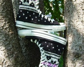 Fair Isle Extra-High Top Knit Chucks, women's size 6.5 only
