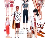 Vintage Vogue 7070 Barbie & Ken Doll Clothes Pattern UNCUT Original OOP 11 1/2 Inch Doll Beach Clothes