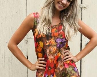SALE-Floral Print-Tank Top-Summer Fashion