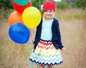 All Skirts, Buy 2, Get 1 FREE!  Three Munchkins- Extra Full Rainbow Chevron Twirl Skirt