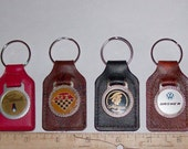 Old Retro Keychains Leather/Vinyl Car Emblems, Marquis, Grand Prix 2 left  to choose from