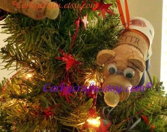 Chicago Bears Christmas  ornament/gift bottle tag