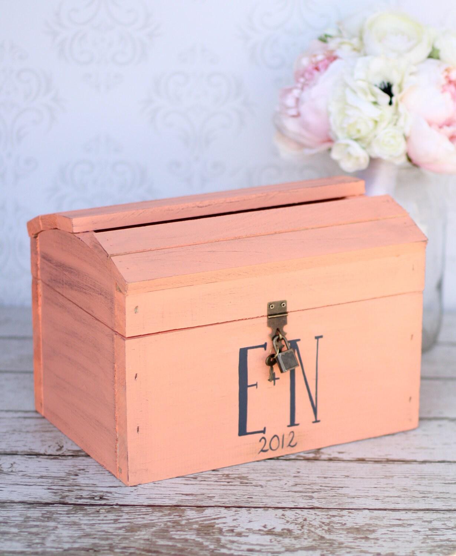 Shabby Chic Card Box With Lock Wedding Decor Item By Braggingbags