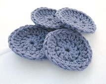 Face Scrubbies, Cleansing Pads, Cotton Face Scrubbies, Crochet Pads, Crochet Face Scrubbies, Purple Pads