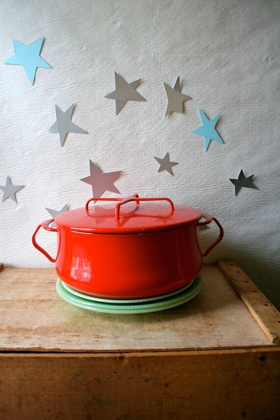 Dansk Dutch Oven Red Vintage Kobenstyle Enamel Cookware IHQ Enameled Jens Quistgaard
