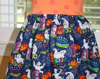 SAMPLE SALE...Ghost says BOO...Halloween dress...24 months /2t ...ready to ship