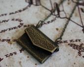 Envelope Necklace - Letter Necklace - Mini Envelope Necklace