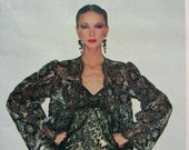 UNCUT * Vogue Paris Original - Yves Saint Laurent - Back Wrapped Lace Evening Gown & Jacket  * Designer  Pattern 2183 * Size 8