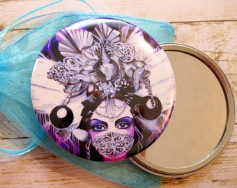 Pocket Mirror Etana The Silver Crowned Queen Round Art