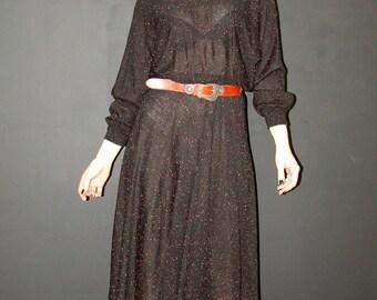 Vintage Dolman Sleeve DRESS, Harts, 1970s
