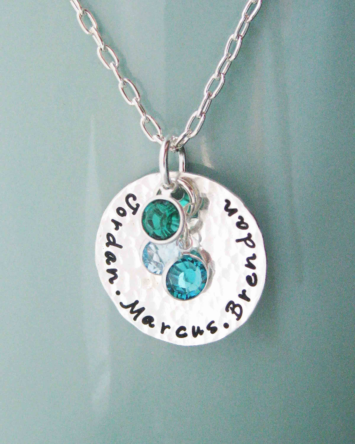 Mothers Necklaces With Names And Birthstones