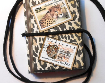 Mini Keepsake Book With Big Cats for Photos, Souvenirs  Handmade