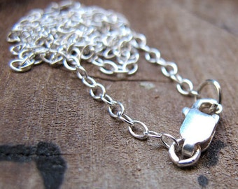 Sterling Silver Chain Necklace - Only Chain - Pendant Chain with Lobster - Jewelry making - Silver Chains / Simple Necklaces - Silver Chains