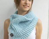 Blue Scarf Shawl Neckwarmer Cowl Mothers Day gift for women girls gift Under50