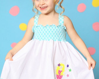 Custom Boutique girls Mermaid dress size 18 months to 6