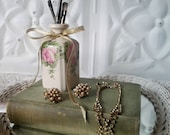 Glass Vanity Bottle Collectible Pharmacy Bottle Shabby Glam