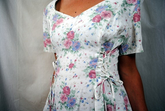 Vintage 80s Summer Floral Dress - Dawn Joy