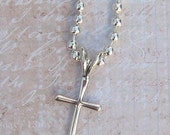 Sterling Silver Cross Pendant / Necklace- SC6/ Last One