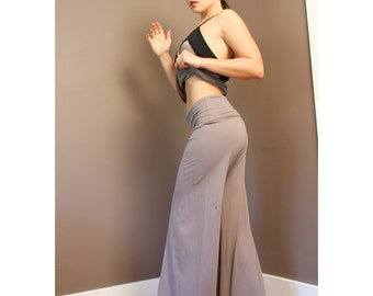 organic lounge pants with foldover waistband - CAROUSEL - made to order