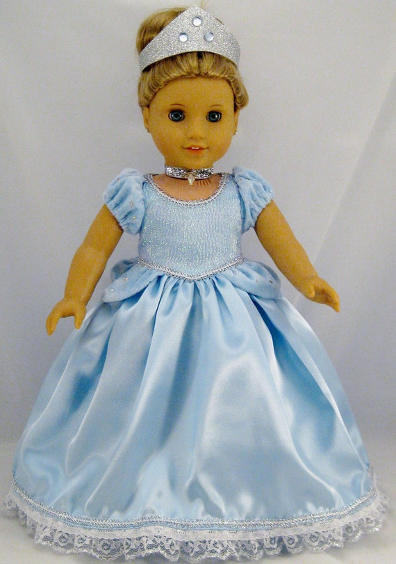 American Girl Sized Cinderella Princess Gown By