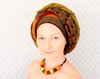 Choker necklace coral garnet amber brown tribal boho Israel