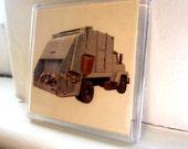 Retro Garbage Truck Magnet