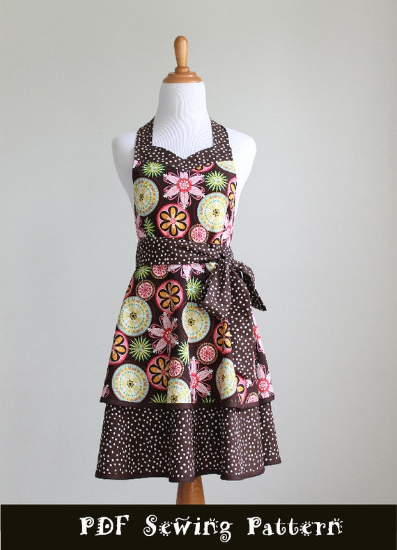 Apron Pattern PDF Women's Full and Half - The LUSCIOUS LAYERS - Instant Download Sewing Pattern