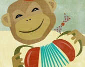 monkey fine art reproduction print