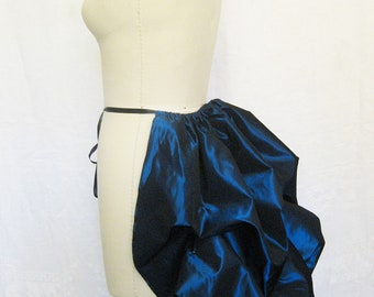 mini bustle-blue bustle -bustle skirt-gothic-steampunk-victorian-plus size-masquerade-carnival-ready to ship-halloween-costume-bustle skirt