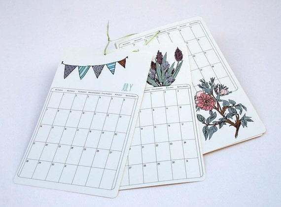 SALE - 2013 Wall Calendar - Mix III by Olive and Ruby