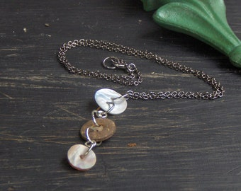 The Kelpie Necklace. Sea shell and coconut shell button necklace