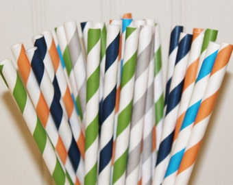 Paper Straws, MADE IN USA, 25 Jurassic World Party Straws, Dinosaur Party Straws, Jurassic Dinosaur Party, Jungle Safari Party, Drink Straw