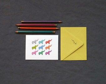 Technicolor Elephant Stationery