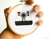 DIY Nerdy Cross-Stitch Kit - POLAROID 005- Complete with Geeky Beginner Embroidery Tutorial