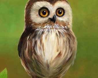 "Little owl - 8x10"" fine art print"