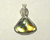 Labradorite with Amazing Colors in Sterling Silver