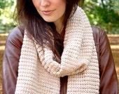 Chunky Knit Scarf in Caramel Wool - Big Softie
