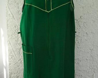 Vintage 1960s MOD Komar Shift Duster - Dark Green - Large