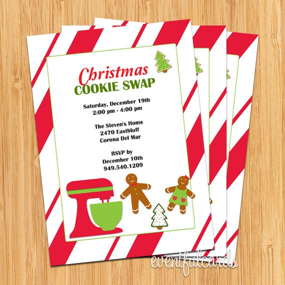 Printable Cookie Exchange Invitations with perfect invitations example