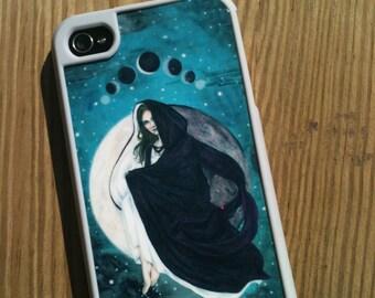 iPhone 4/4s Case Lunar Eclipse Moon Goddess Art