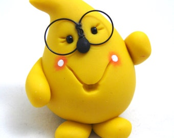 Nerd PARKER Figurine with Glasses - Polymer Clay Character Figurine