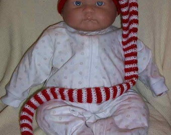 Red & White Baby Elf Cap
