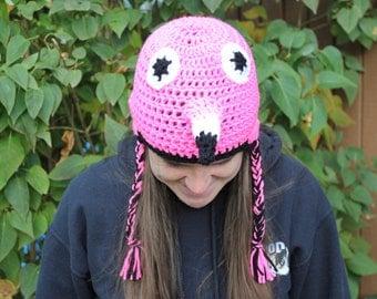 Flamingo Animal Hat  Newborn Flamingo Hat, Toddler Flamingo Hat, Child Flamingo Hat, Teen Flamingo Hat, or Adult Flamingo Hat