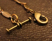 Mens Steampunk Pocket Watch Chain in Copper in Brass