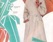 80s Rain Coat Jacket Hooded Trench Coat Pattern plus Bonus Nightgown Sewing Patterns Multi Sized Pattern Vintage Size 8 10 12 14 16 UNCUT FF