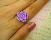 Sakura Blossom Flower Ring - Lavender // SALE and 100% DONATION to AHA