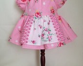 Dolly Dress Large Pink Flowers
