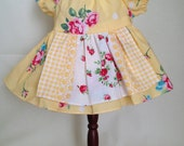 Dolly Dress Large Yellow Flowers