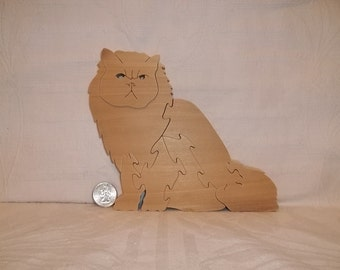 Wooden Persian Cat Puzzle