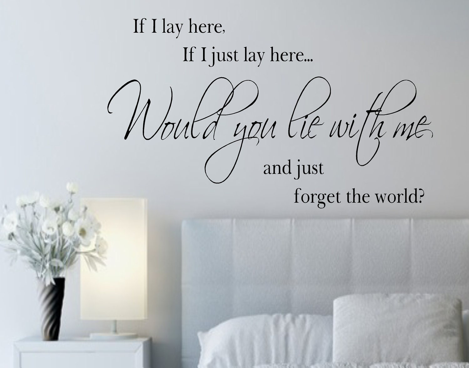 If I Lay Here If I Just Lay Here Vinyl Wall Decals